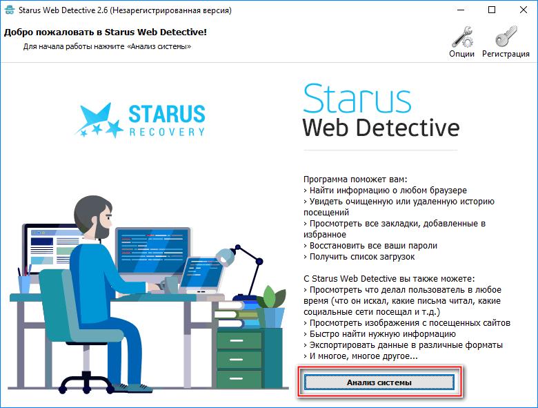 Анализ системы Starus Web Detective