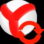 Иконка синхронизация Яндекс браузера