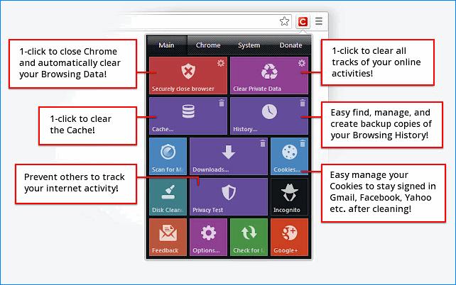 Интерфейс расширения Click&Clean