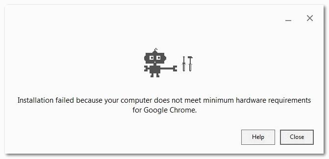 Компьютер не отвечает минимальным системным требованиям