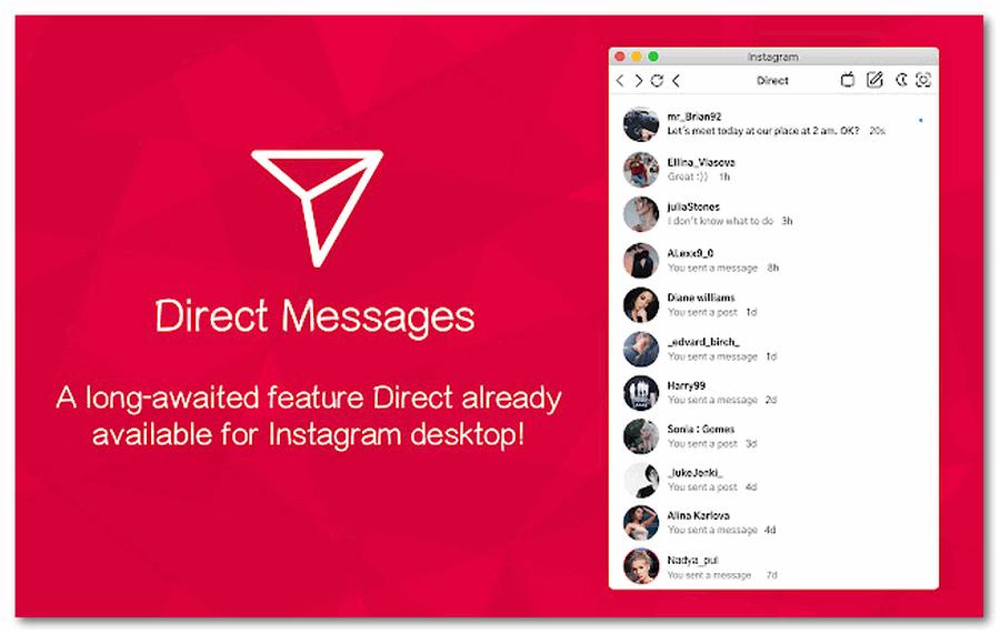 Общение в Инстаграм Веб