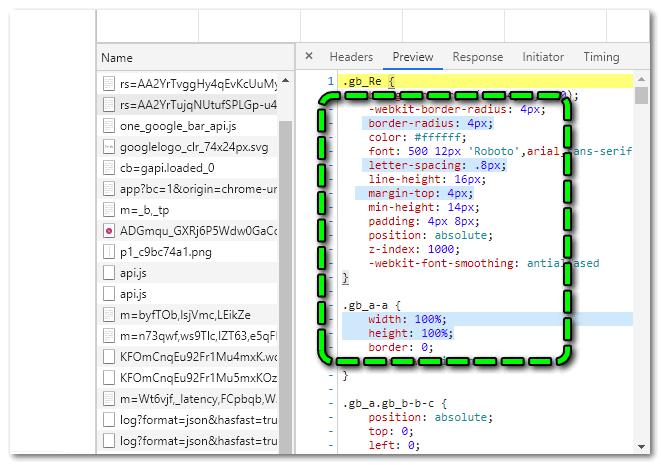 Параллельное выделение в консоли разработчика Chrome
