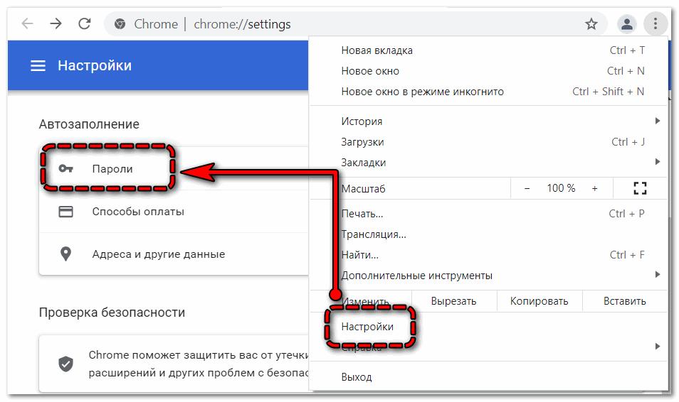 Пароли в Google Chrome