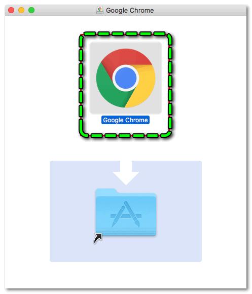 Перемещение Google Chrome в macOS