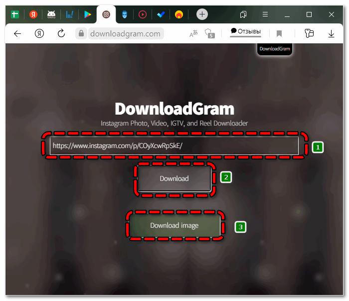 Скачать фото DownloadGram