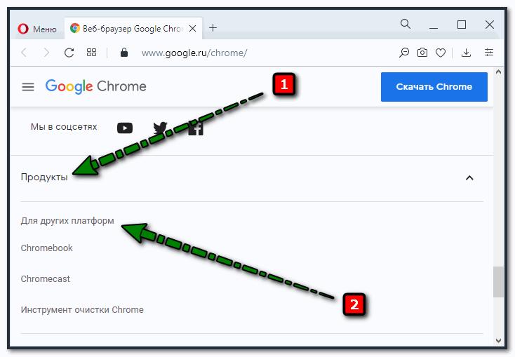 Скачивание Google Chrome