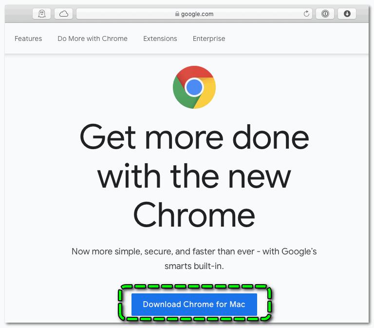 Загрузка Chrome на macOS