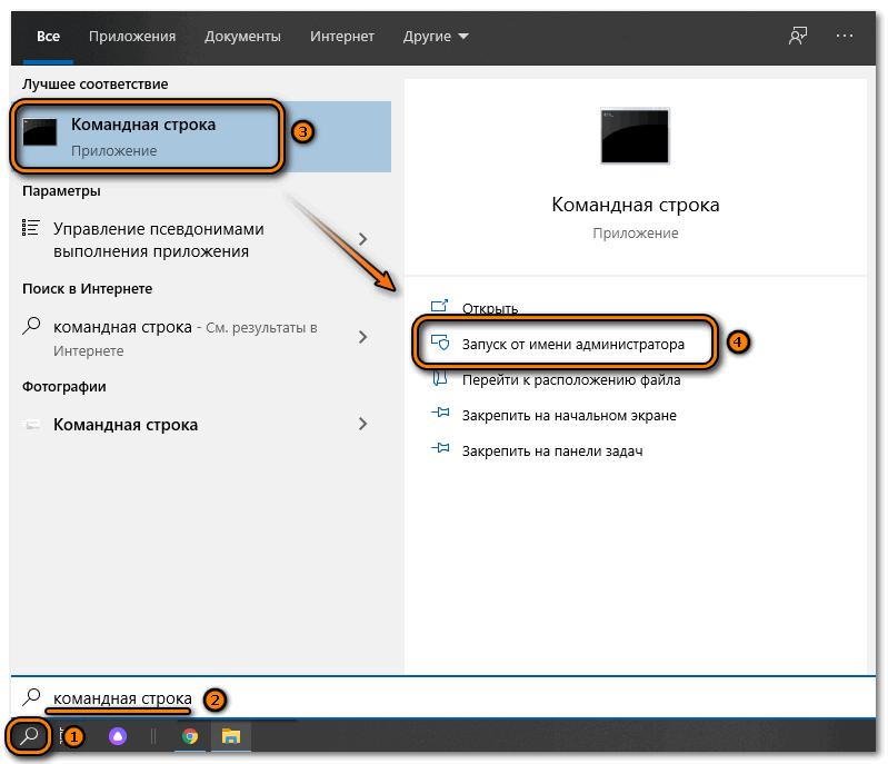 Запуск компандной строки в Windows
