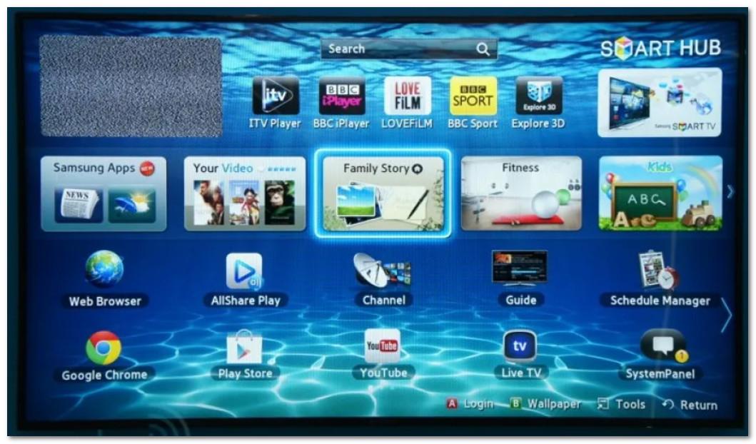 Google Chrome для Smart TV Samsung