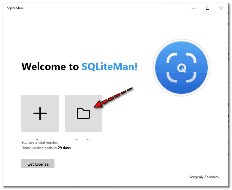 программа Sqliteman для просмотра файла с паролями в Гугл Хром