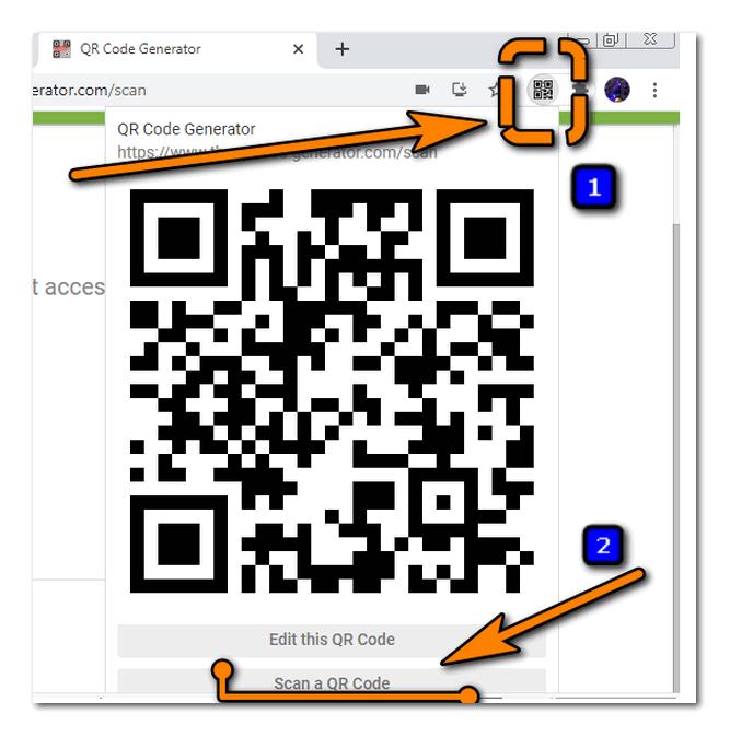 Активация QR сканера расширения для браузера