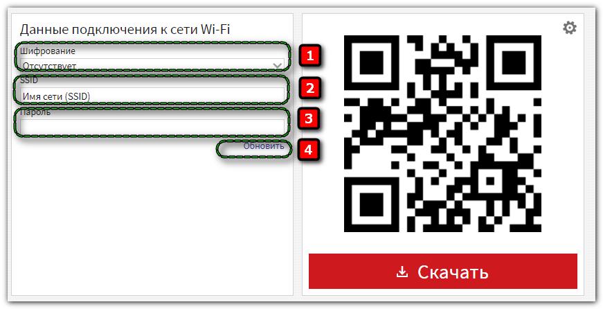 Генератор QR кода Wi Fi